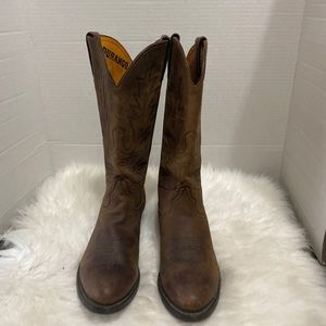 Durango RD4112 Brown Leather Cowboy Western Boots